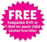 Free Keepsake DVD or TShirt