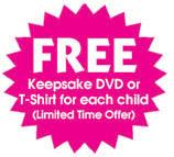 Free Keepsake DVD or TShirt