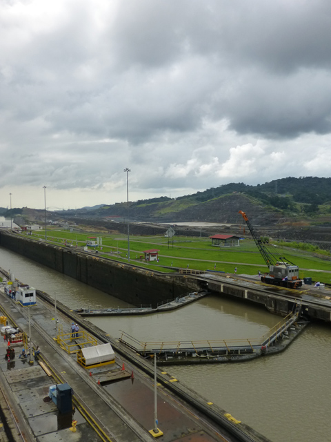 Pedro Miguel Locks with new construction in background