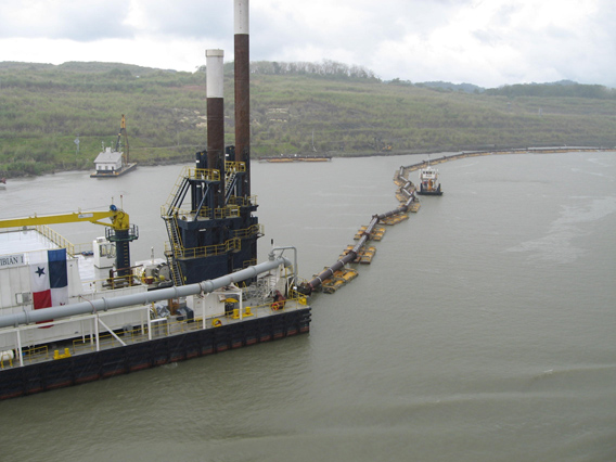 Dredging Barge widening Guilliard Cut