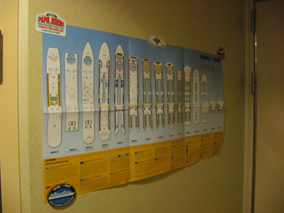 Map of Oasis of the Seas on cabin wall