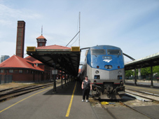 Portland Amtrak Station with Coast Starlight