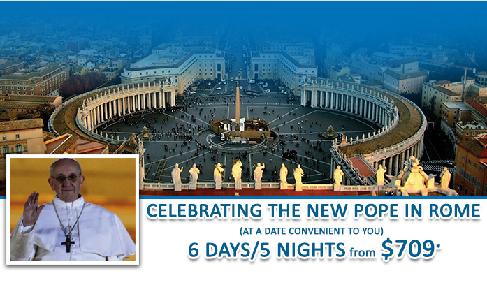 new pope francis, trip to rome trip to vatican italy cental holidays tour