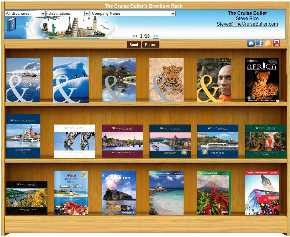 Cruise Butler's brochure rack